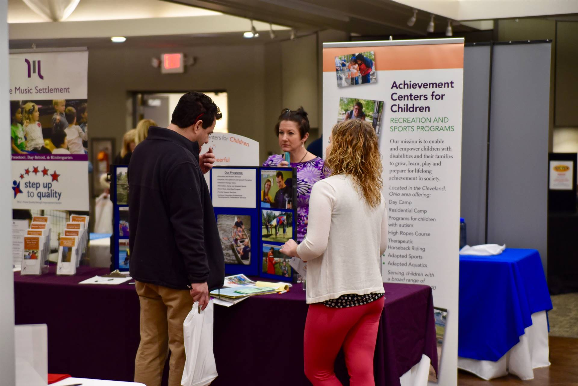 Achievement Center for Children shared information during the 2018 Summer and Beyond Event.