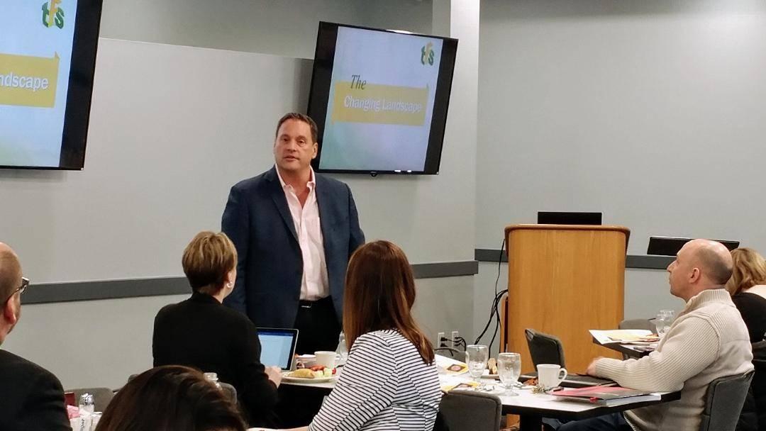 Author, Mark Perna, speaks at Auburn Career Center