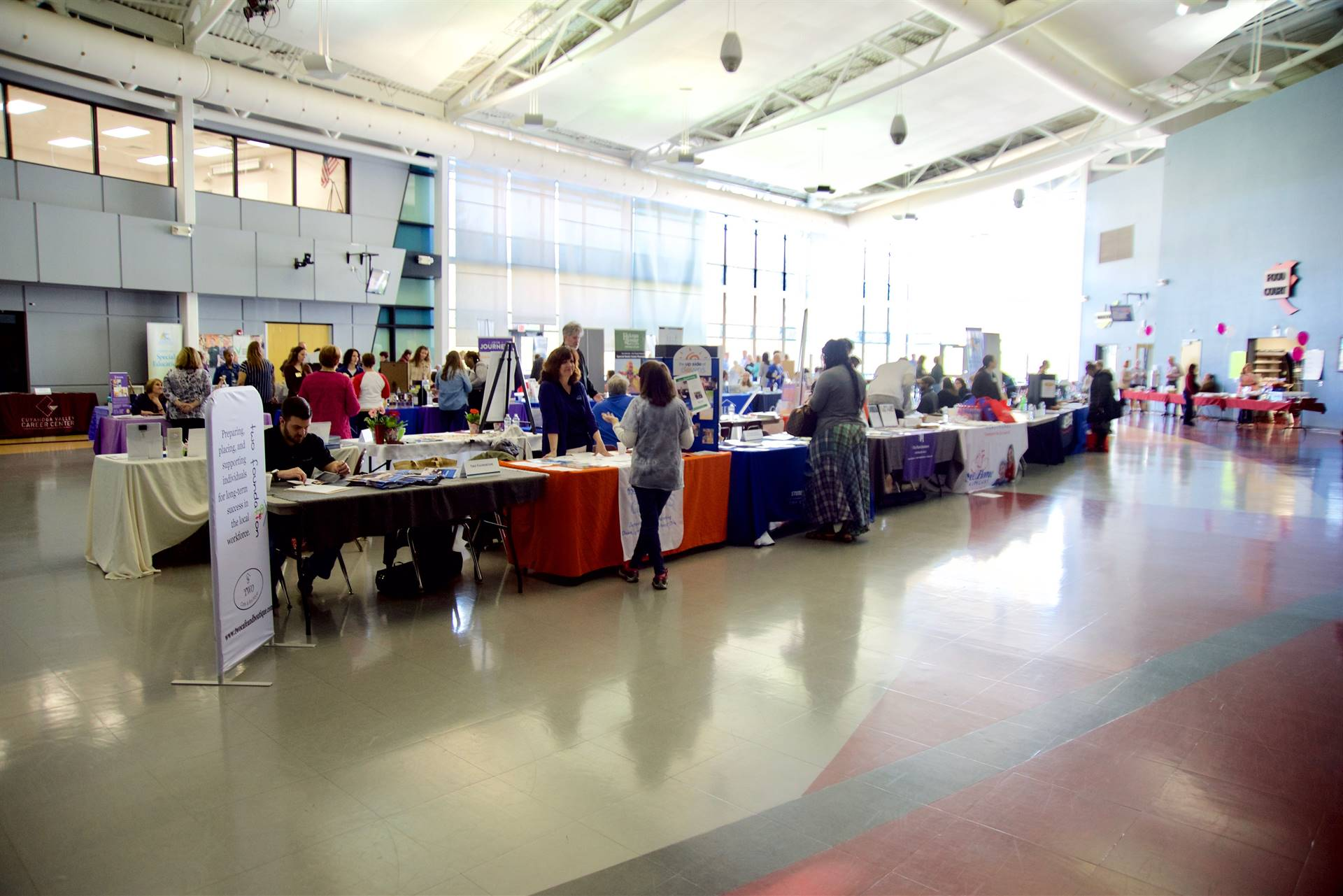 Vendors at Transition Fair