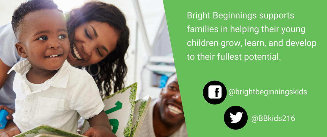 Visit Bright Beginnings on facebook and twitter