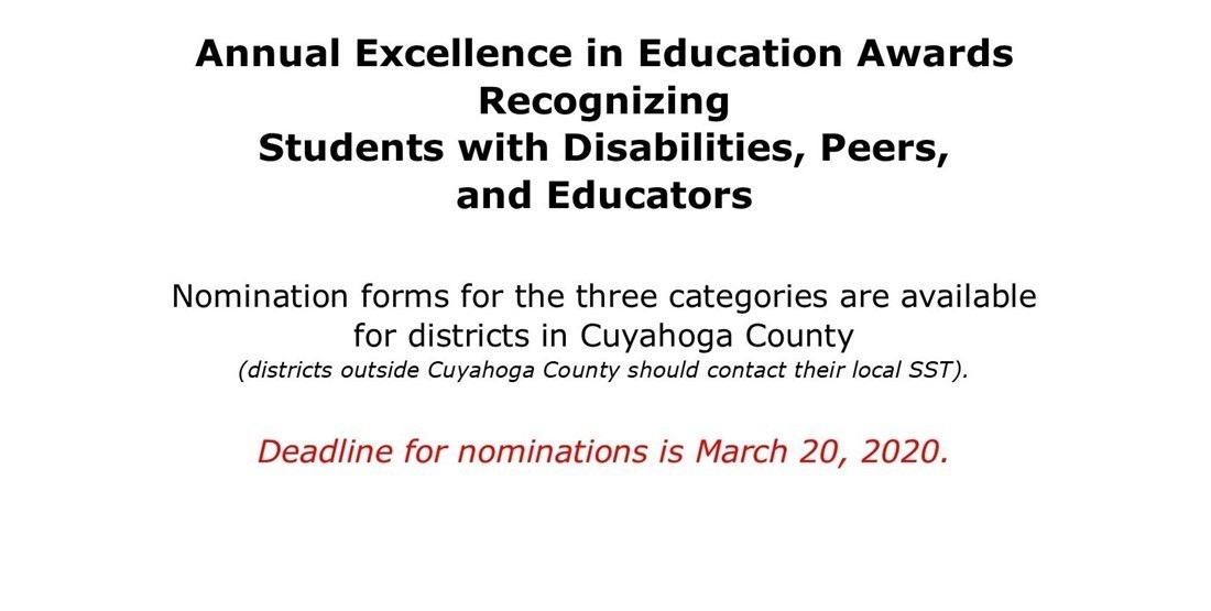 2020 Excellence in Education nomination reminder