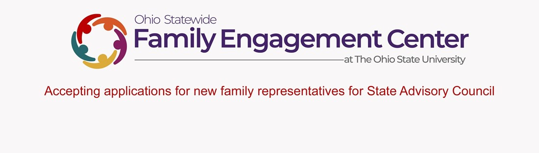 Image of the Ohio Statewide Family Engagement Center logo and a link to information on the State Advisory Council