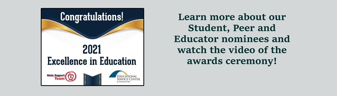 Image and link to the excellence in education awards