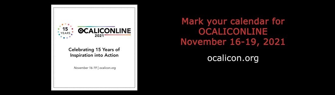 Logo for the OCALICONLINE conference in November