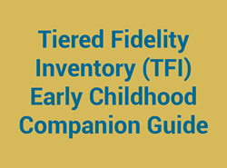 Tiered Fidelity Inventory (TFI) Early Childhood Companion Guide
