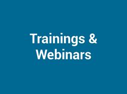 Trainings & Webinars