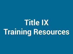 Title IX Training Resources