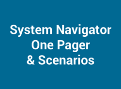 System Navigator One-Pager & Scenarios