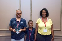 RA Horn recipient - Malcolm Brightharp and family